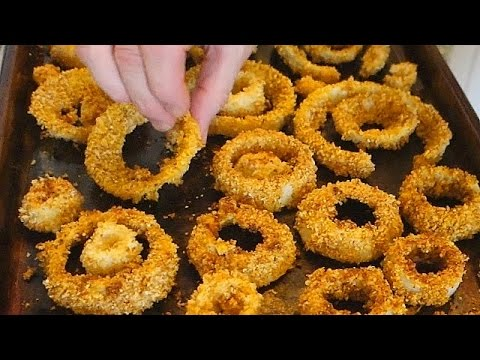 Best Onion Rings Recipe in the Oven ...healthier than fried