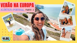 VLOG: Tentei surfar super enferrujada! Deu certo? | Verão na Europa! Alentejo, Portugal - Parte 1