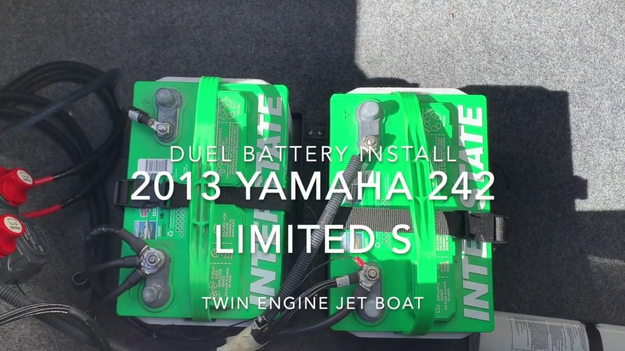 yamaha jet boat dual battery wiring diagram dual battery wiring yamaha 242 jet boat youtube  dual battery wiring yamaha 242 jet boat