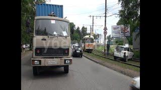 Простой трамваев в Хабаровске произошел из-за столкновения МАЗа и универсала. Mestoprotv|GuberniaTV