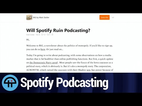 Is Spotify Going to Destroy Podcasting?