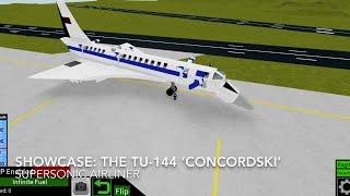 Roblox showcase: The Tu-144 'Concordski'