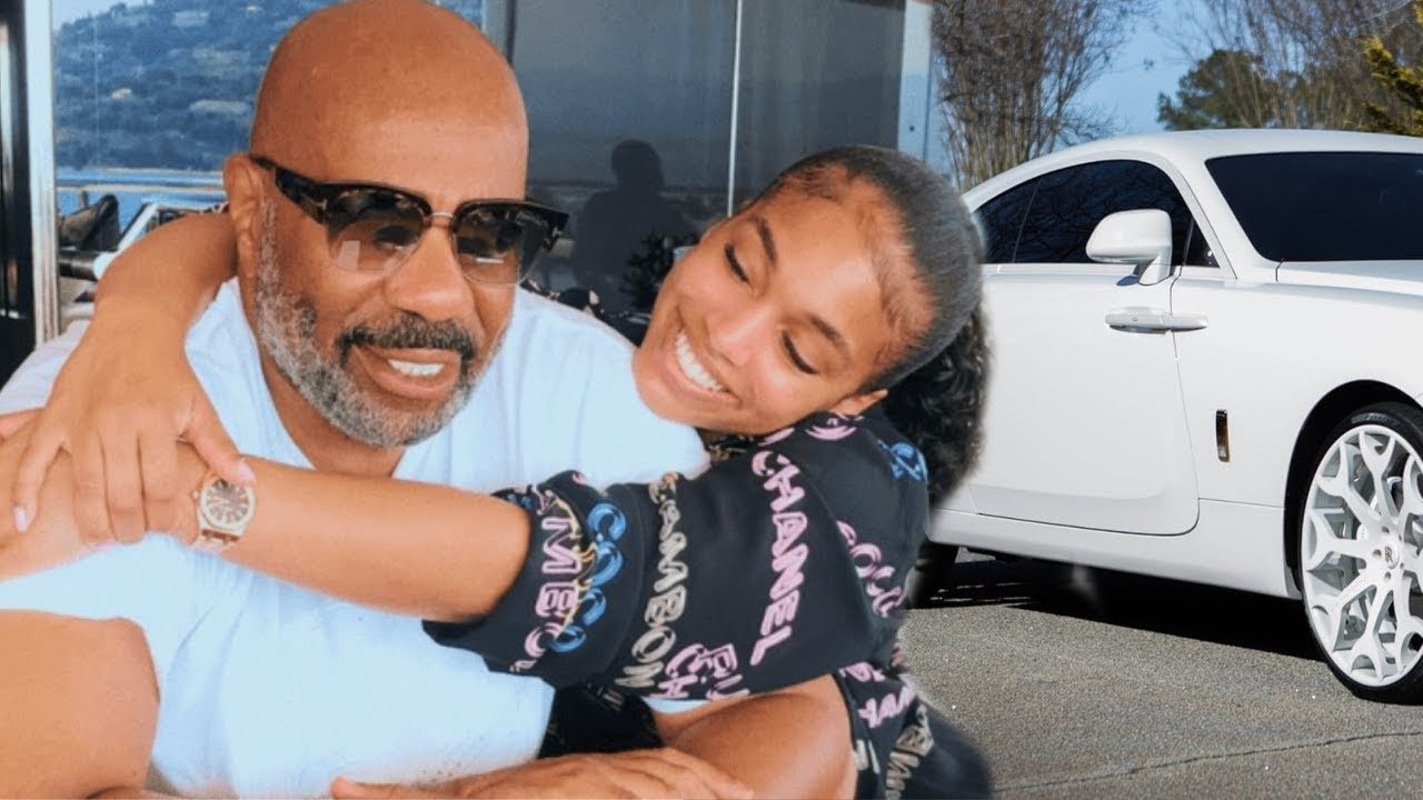 Steve Harvey show cancelled, but he spends BIG bucks on Lori Harvey, buys her a Rolls Royce!!