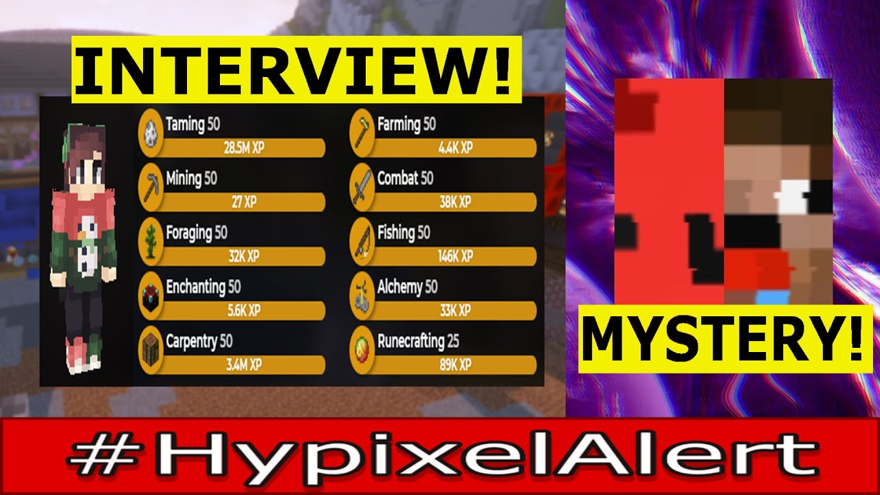 Player FULLY Maxes ALL Skyblock Skills! #HypixelAlert Linman INTERVIEW - Specular YT Rank MYSTERY