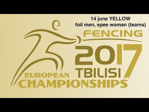 #European Champioships Tbilisi Men Foil/Woman Sabre teams YELLOW piste