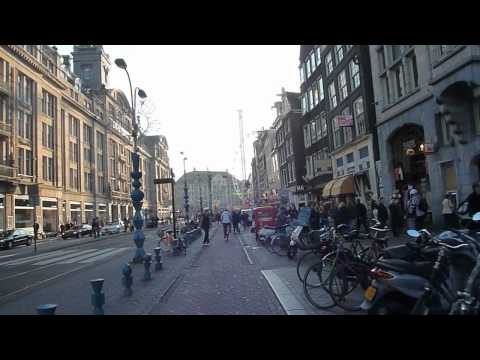 Bicycle Trip: Amsterdam Central Station to Damrak / Muntplein in Amsterdam