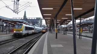 Circulation de train dans Luxembourg la gare centrale