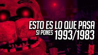 ESTO ES LO QUE PASA SI PONES 1993 / 1983 EN ULTIMATE CUSTOM NIGHT | PROBANDO SECRETOS FNAF