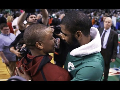 Isaiah Thomas Jokes with Kyrie Irving after the Game