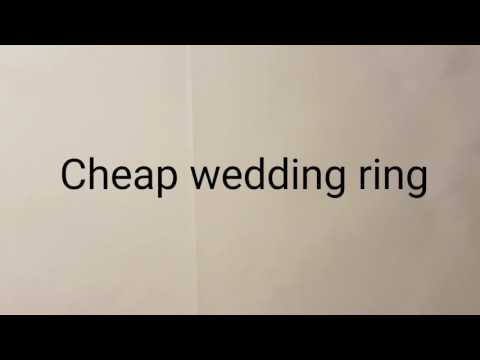 Cheap Wedding Ring From Wish
