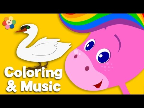 Animals | Coloring and Music | Rainbow Horse | BabyFirst TV