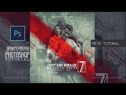 Adobe Photoshop Tutorial l Sports Poster Design  l Ronaldo thumbnail