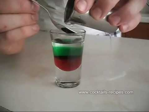 How to make Shot Bulgarian Flag - Cocktail Drink Recipe