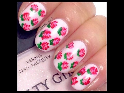 Easy Rose / Valentine Nails for Beginner's | Beauty Intact