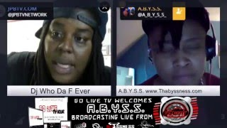 Go Live Tv Hour Re-broadcast feat. New Jersy Femcee Abyss@abyssthabyness