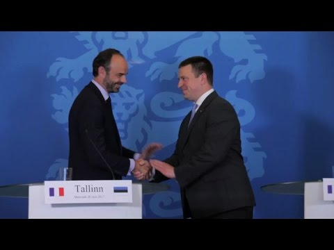 Europe, numérique et sécurité pour Edouard Philippe en Estonie