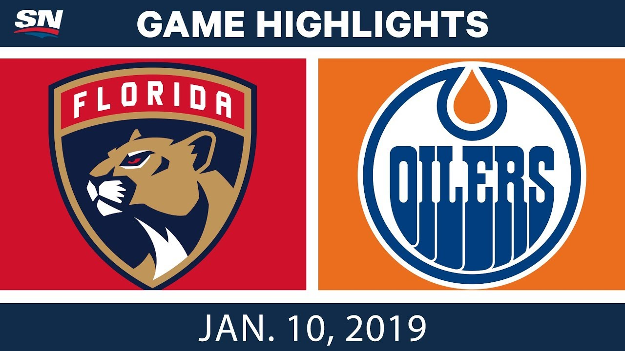 NHL Highlights | Panthers vs. Oilers - Jan. 10, 2019
