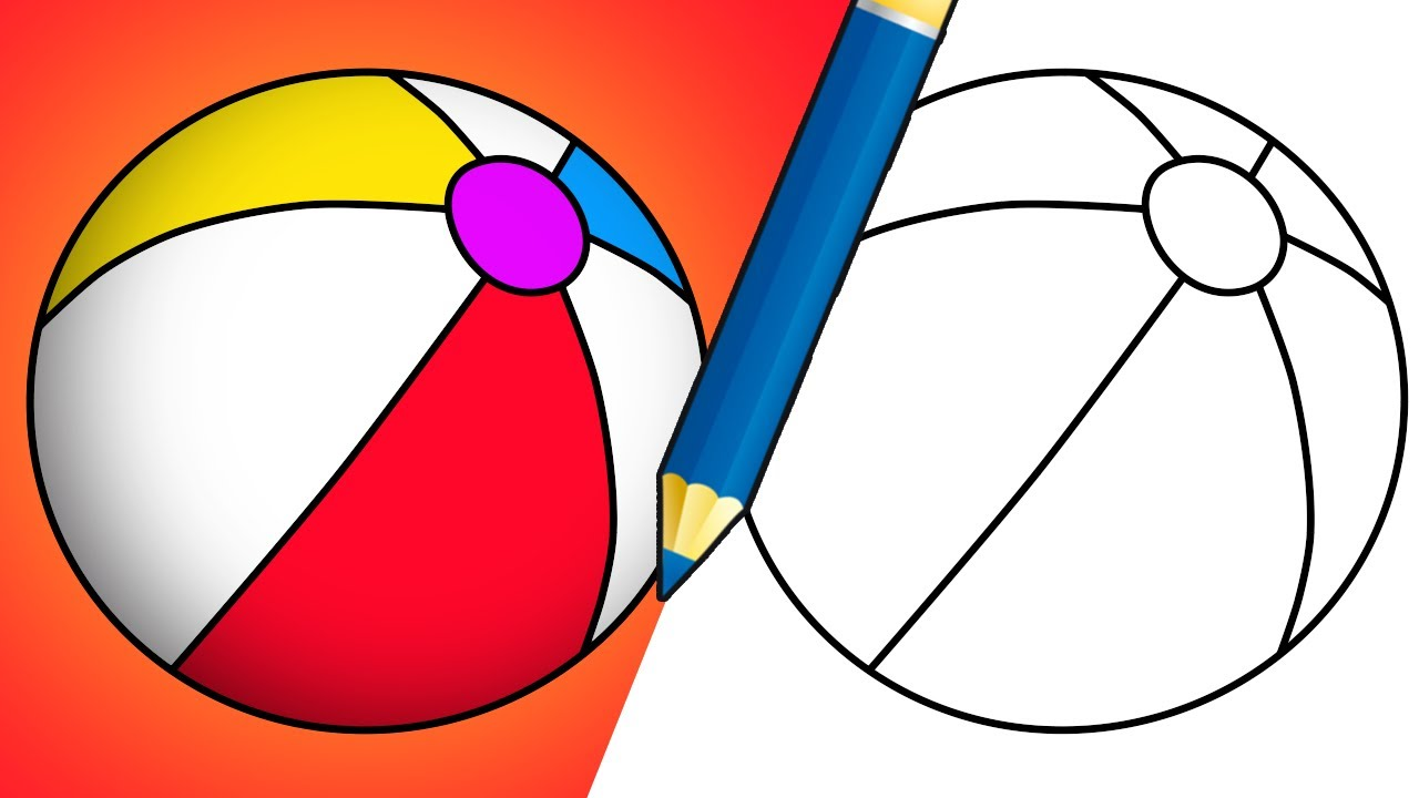 How To Draw A Beach Ball - YouTube