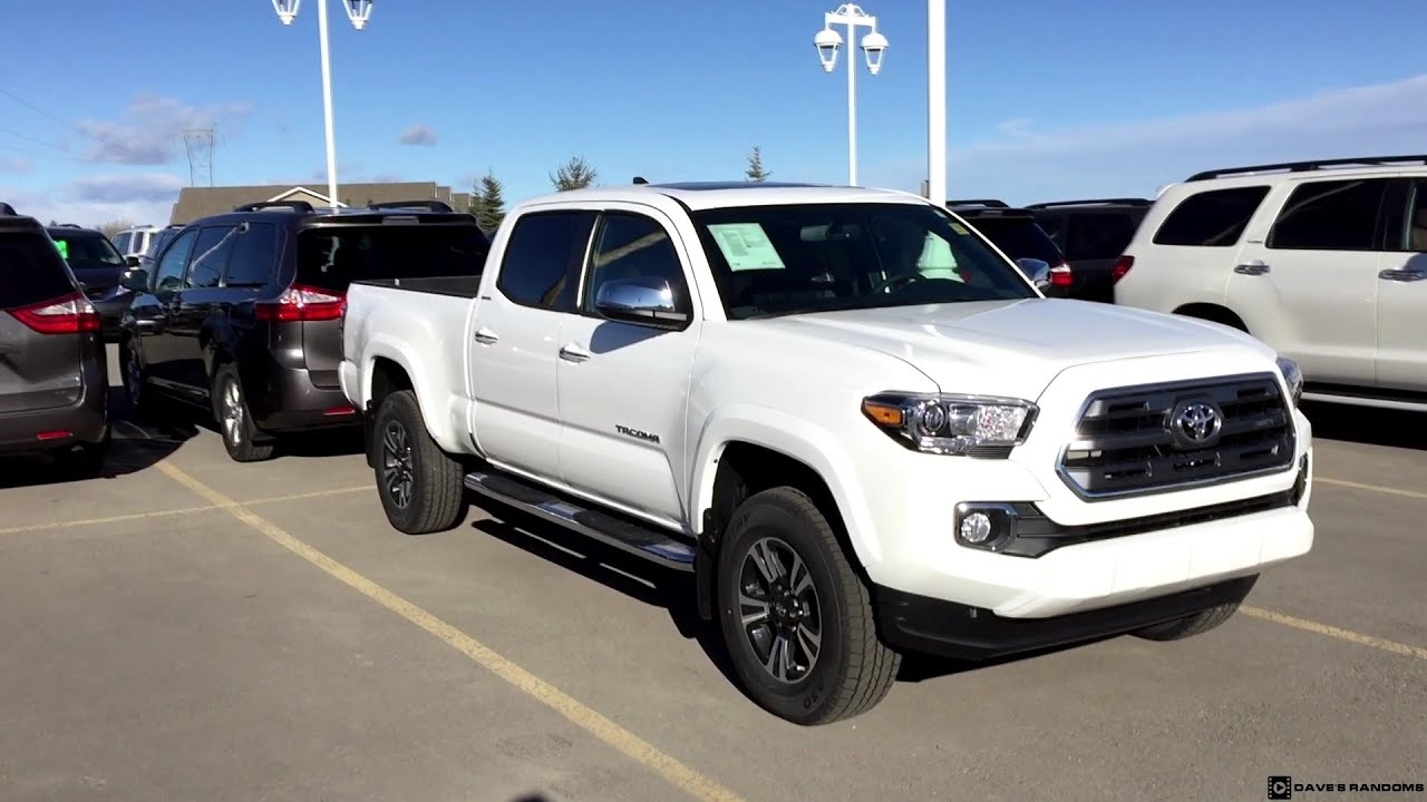 2016 Toyota Tacoma Limited Double Cab In Alpine White
