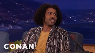 daveed diggs had no idea what to do on a film set conan on tbs