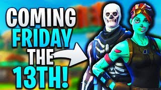 "Fortnite Friday the 13th ""Skull Trooper"" & ""Ghoul Trooper"" is coming back! (Unlock old rare skins)"