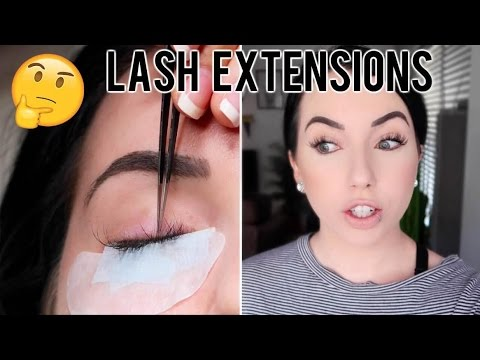 EYELASH EXTENSIONS Before & After, Experience & Check in after 4 weeks! Sensitive Eyes