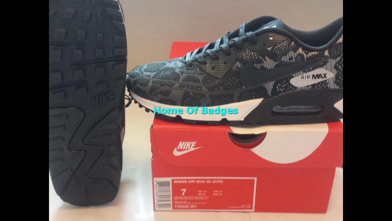 20151021 Nike 2015 Q3 WOMEN AIR MAX 90 JACQUARD Fashion Sneaker Shoes 749326 001