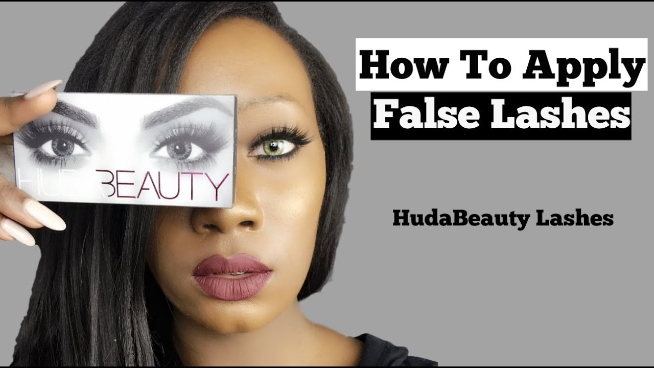 how to apply false lashes comment mettre des faux cils youtube. Black Bedroom Furniture Sets. Home Design Ideas
