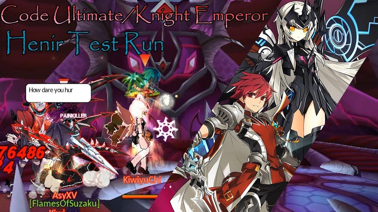Elsword Na Knight Emperorcode Ultimate Henir Test Run Youtube