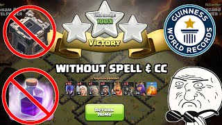 RECORD BREAKING Army I 3 Star Any TH9 Without Spells & Clan Castle Troops I Clash Of Clans 2018