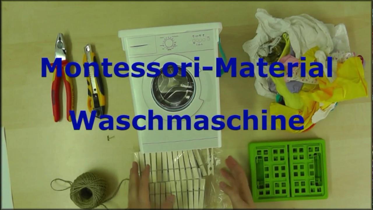 Berühmt Montessori-Material basteln - Arbeitsablauf Waschmaschine - YouTube FP57