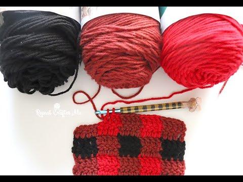 How to Crochet Plaid (Buffalo Check)