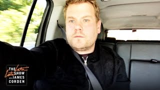 James Corden's Post-Ban Trip Through LAX