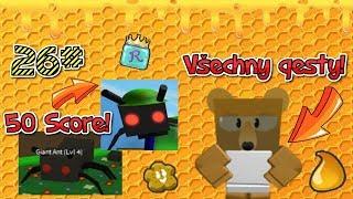 🐝50 Score a všechny questy od Science medvěda!🍯💐 / 26 ep / ROBLOX / Bee swarm simulator / jurasek05
