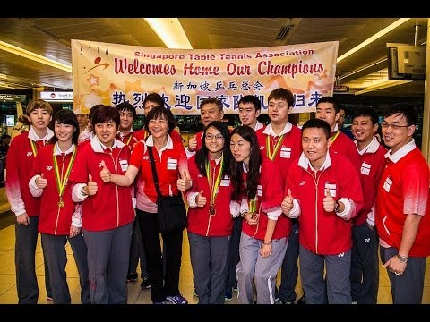 Team Singapore returns from 27th SEA Games Myanmar 2013
