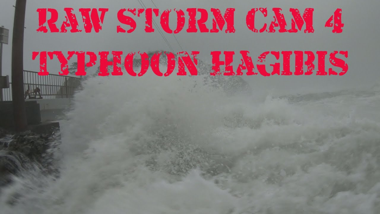 Raw Storm Cam 4: Battering Waves And Storm Surge From Typhoon Hagibis In Japan
