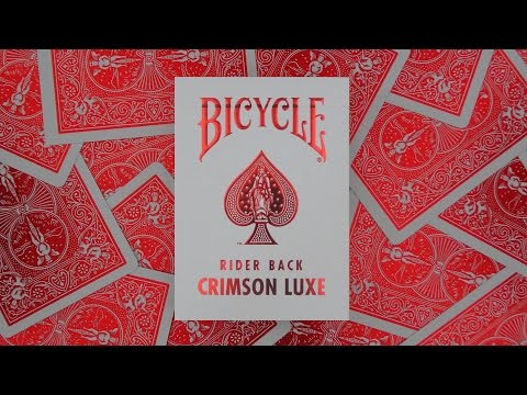 Bicycle Metalluxe Crimson Playing Cards | Deck Review -Display