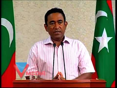 President Yameen's Press conference 01
