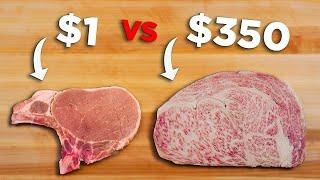 $1 Steak vs. $350 Steak Challenge