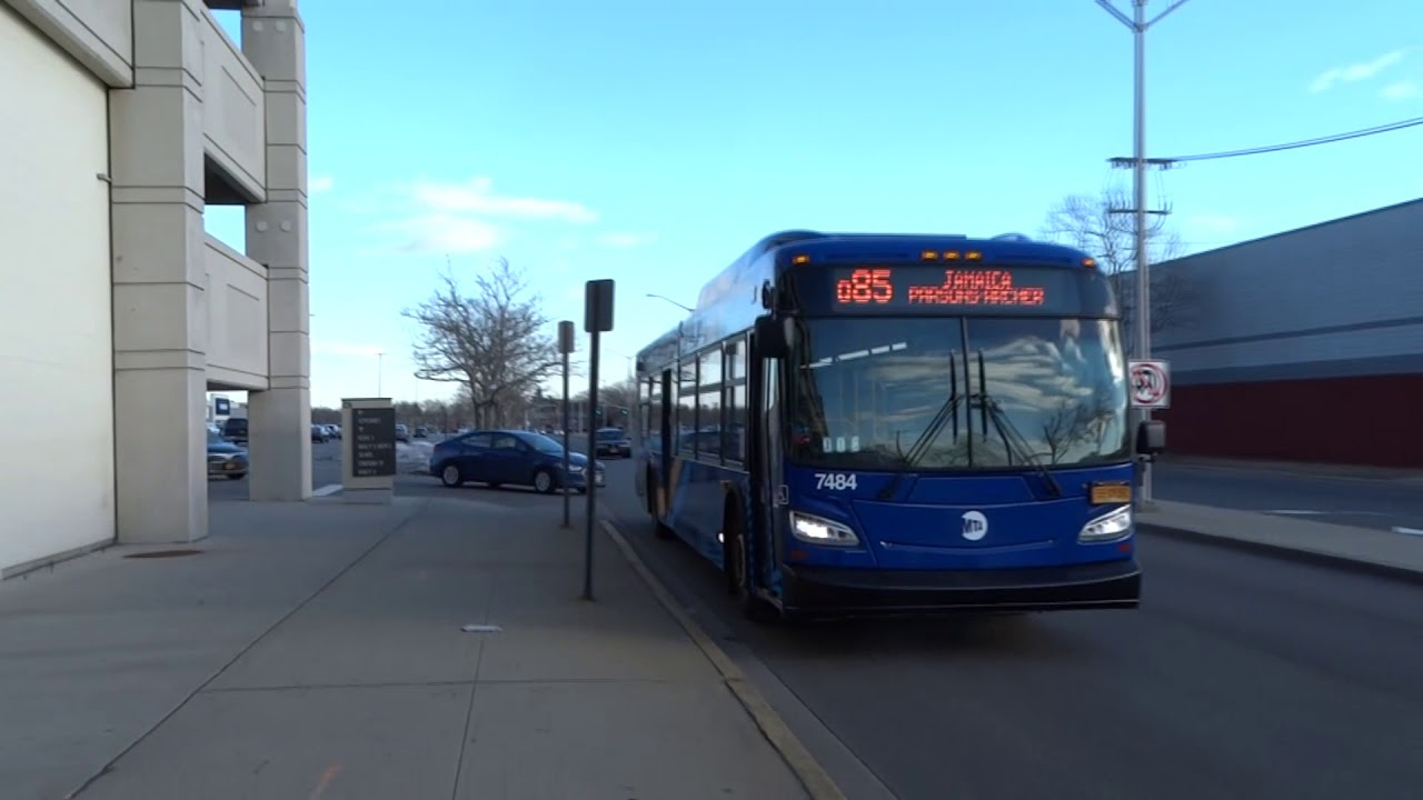 mta new york city bus: new flyer xd40 #7484 q3 & q85 @ springfield