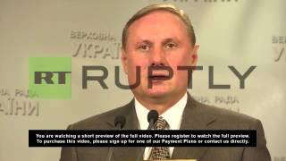 Ukraine: Conflict must be solved through talks - Party of Regions leader
