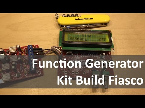 Function Generator Kit Build & Build & Fix & Test & Bin? - 12v Solar Shed