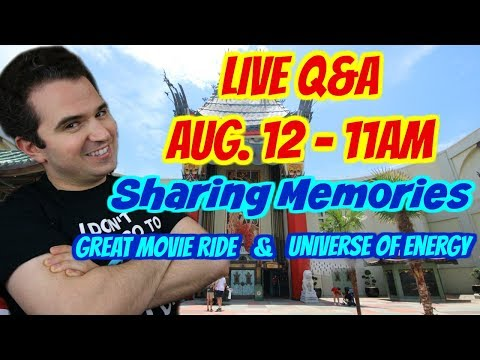 LIVE Q&A - Sharing Memories | Great Movie Ride & Universe of Energy 🎬⚡️👋
