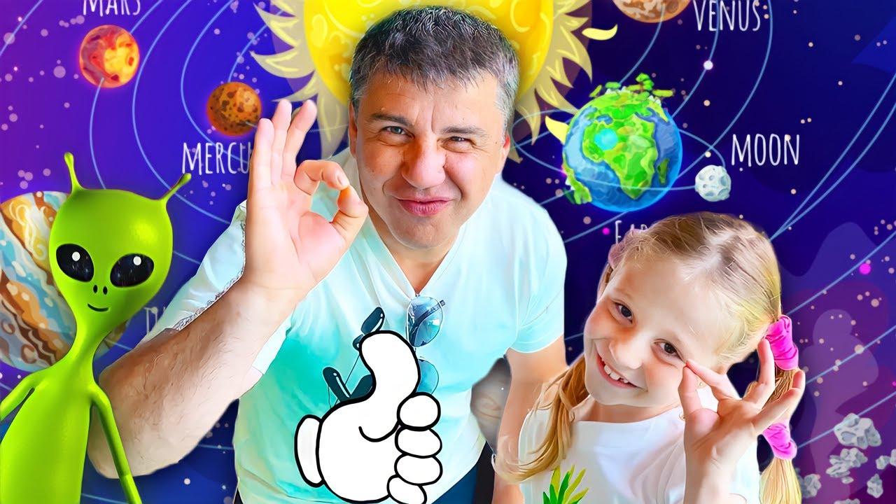 Nastya dan Ayah berpura-pura bermain di Museum Sains Anak Puerto Rico