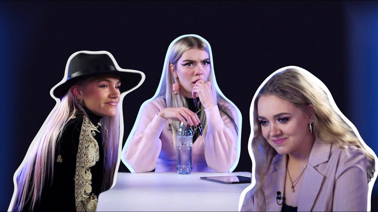 Enni Britta, Roosabanaanike ja Liza Lind keerutavad pudelit
