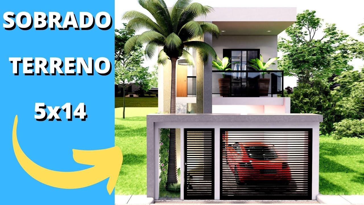 Download ✅SOBRADO PEQUENO E MODERNO COM 2 QUARTOS GEMINADO  ESTREITO 5X14 |PISCINA E GARAGEM|
