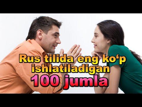 Rus Tilida Eng Ko`p Ishlatiladigan 100 Jumla. AUDIODARSLIK🎧 1-QISM.