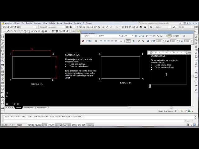 Introduciendo textos en AutoCAD