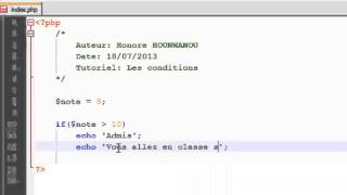 PHP  - 10 -  Introduction aux conditions