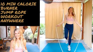 10 minute beginner jump rope circuit to lose weight